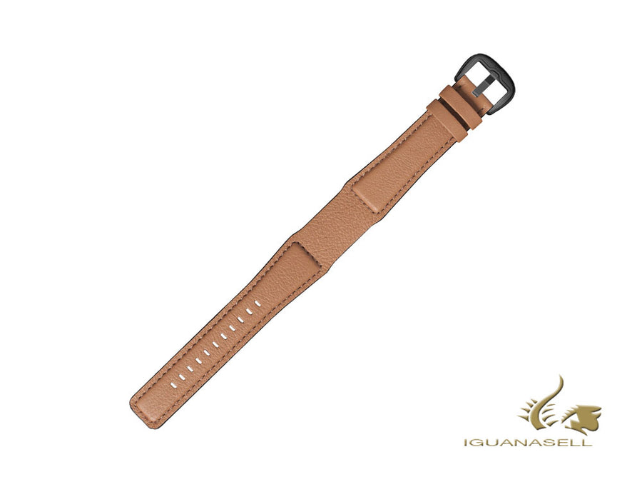 Dietrich Tailored Gold Strap, Leather, Beige, 22mm, Buckle, Stainless Steel