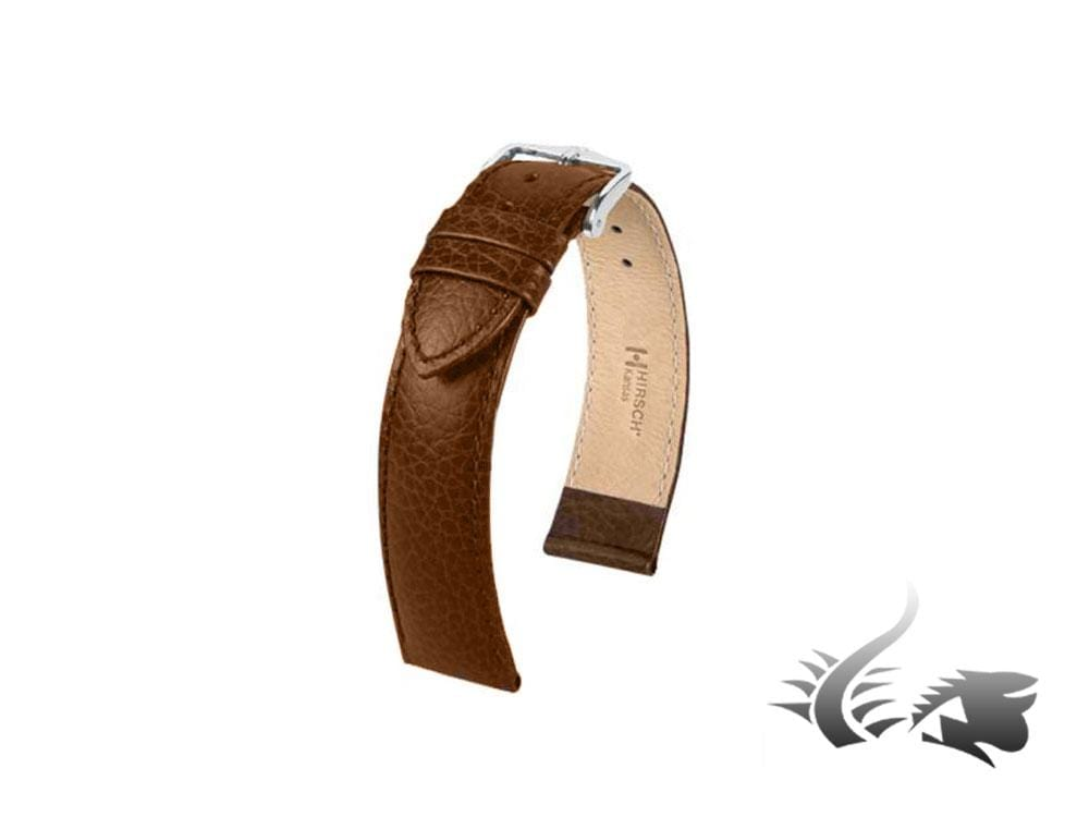 Hirsch Kansas Calfskin Strap, Golden Brown, 18 mm, L (200 mm), 01502070-2-18 Strap