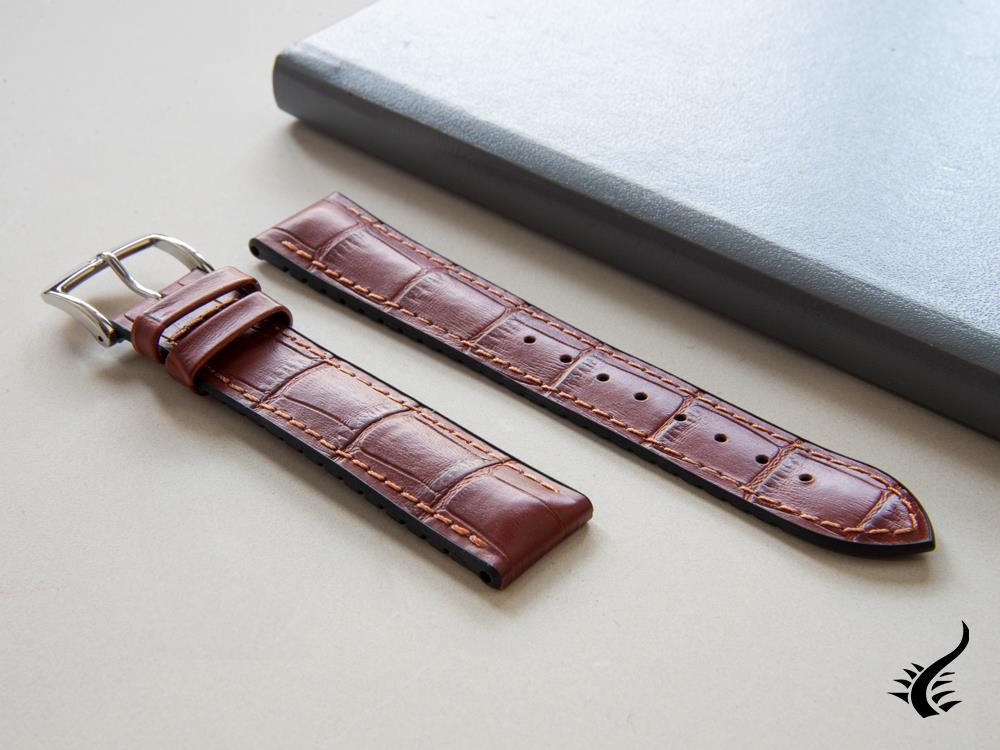 Hirsch Paul Performance Collection Strap, Golden Brown, 20 mm, 0925028070-2-20 Strap