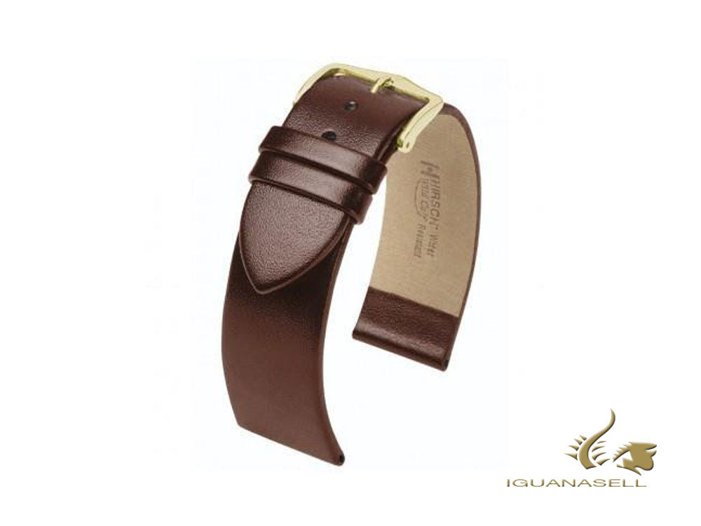 Hirsch Wild Calf Strap, Brown, 20 mm, M (180 mm), 13600210-1-20
