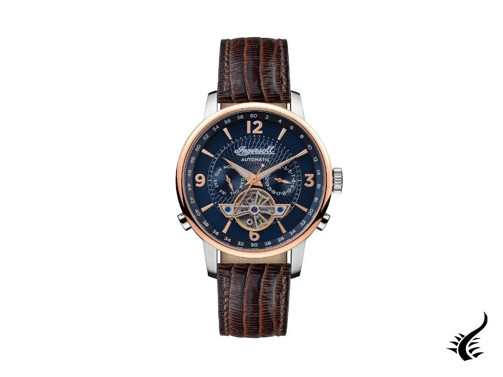 Ingersoll Grafton Automatic Watch, 42 mm, Blue, I00703B