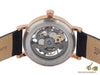 Ingersoll Herald Skeleton Automatic Watch, 40 mm, Black, Leather, I00403