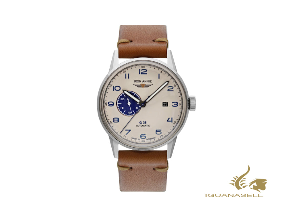 Iron Annie G38 Dessau Automatic Watch, Beige, 42 mm, Day, 5368-5