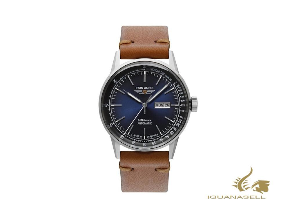 Iron Annie G38 DESSAU Automatic Watch, Blue, 42 mm, Day and date, 5366-3