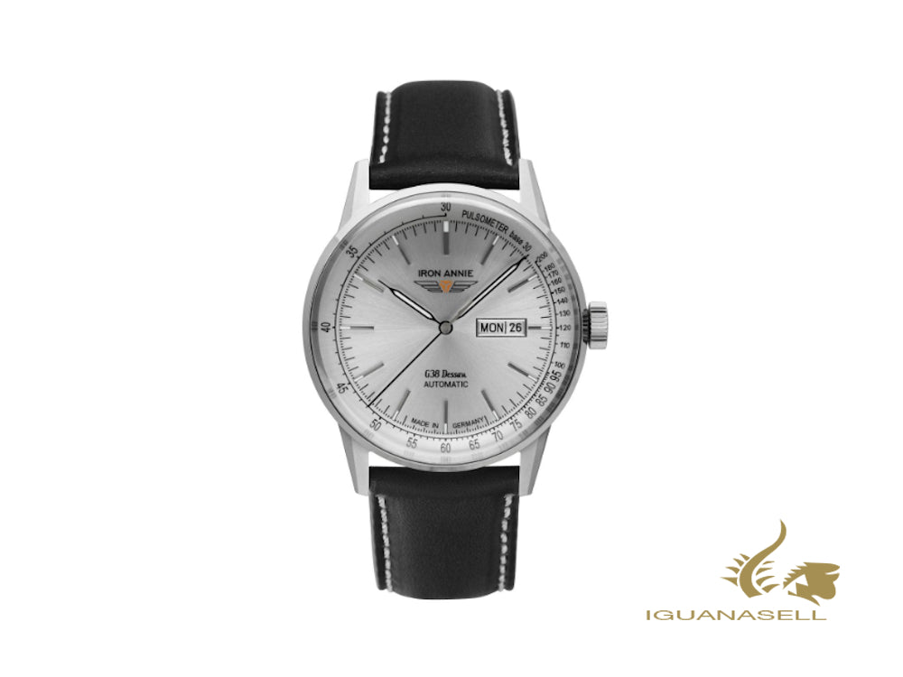 Iron Annie G38 Dessau Automatic Watch, Silver, 42 mm, Day and date, 5366-1