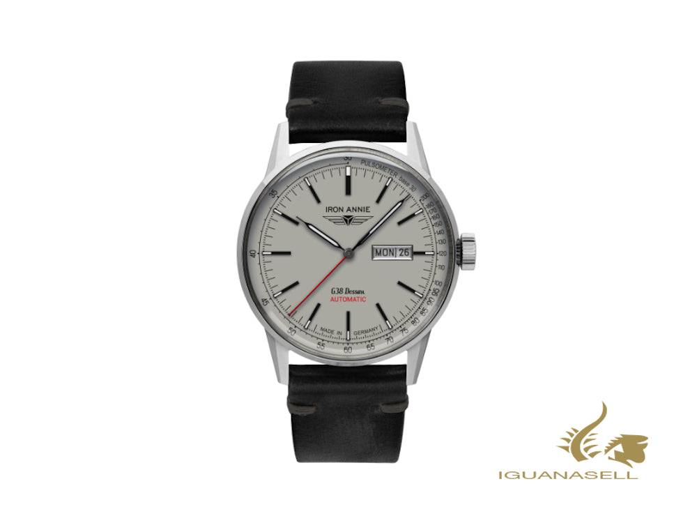Iron Annie G38 Dessau Automatic Watch, White, 42 mm, Day and date, 5366-4