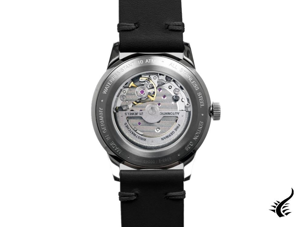 Iron Annie G38 Dessau Automatic Watch, Polished stainless, Black, 42 mm, 5368-2