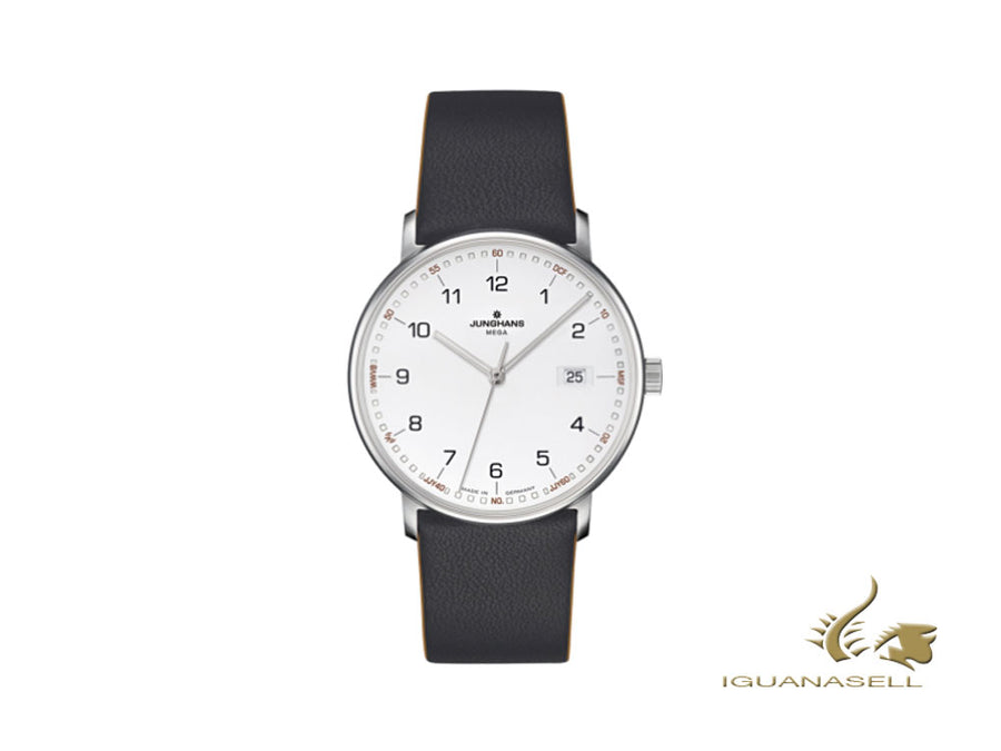 Junghans Form Mega Radio-controlled Watch, 39,3mm, White, Black, 058/4931.00