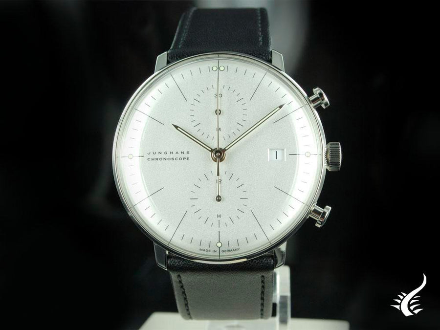 Junghans Max Bill Chronoscope Automatic Watch, J880.2, 40mm, White, 027/4600.00
