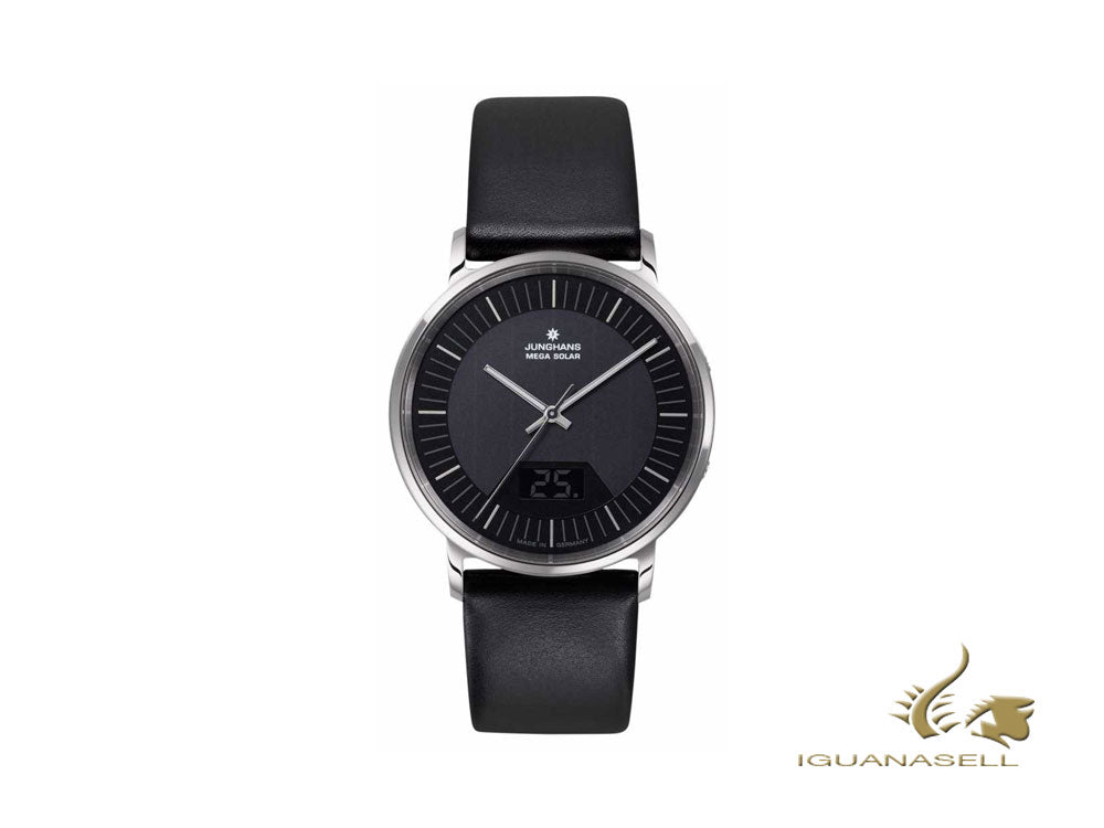 Junghans Performance Milano Mega Solar watch, Black, 39,2mm, Day, 056/4220.00