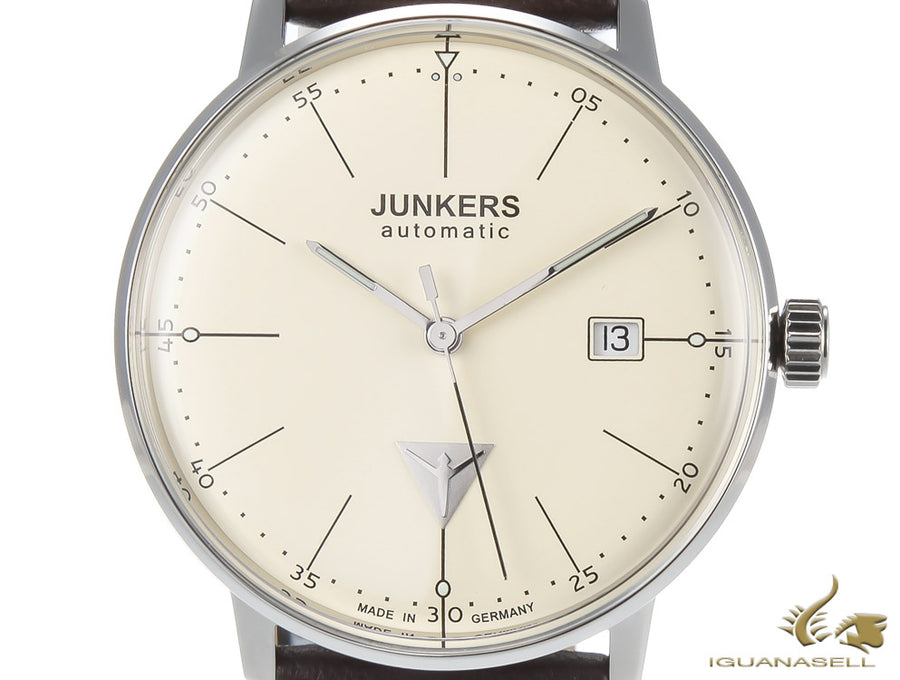 Junkers Bauhaus Automatic Watch, Beige, 40mm, 6050-5