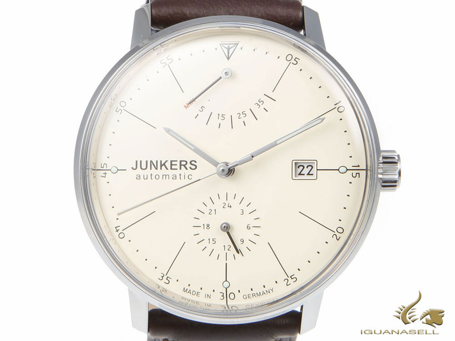 Junkers Bauhaus Automatic Watch, Stainless Steel, Beige, 40 mm, 3 atm, Day
