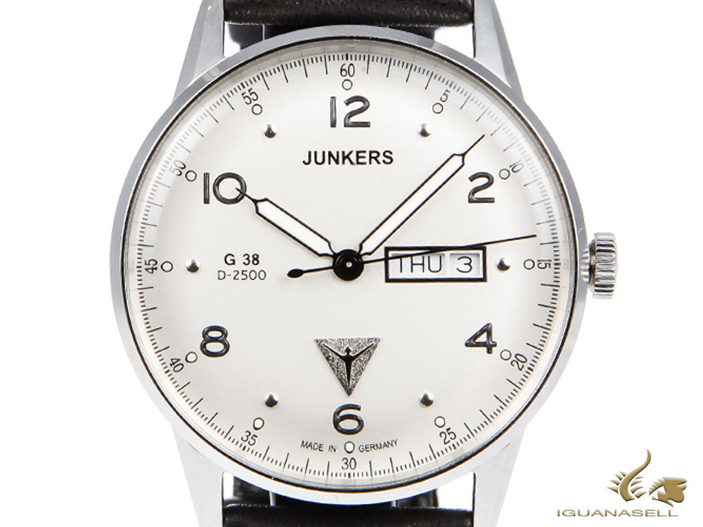 Junkers G38 Quartz Watch, Stainless Steel, Silver, 42 mm, Day and date, 6944-1