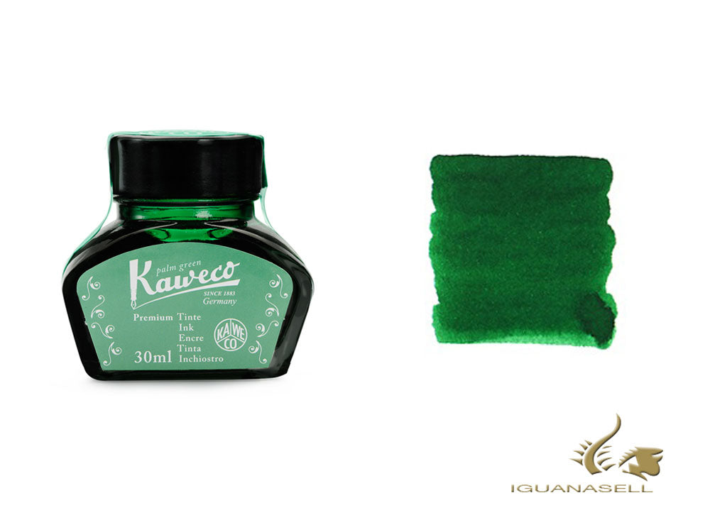 Kaweco Green Palm Ink Bottle, 30ml., Green, Crystal