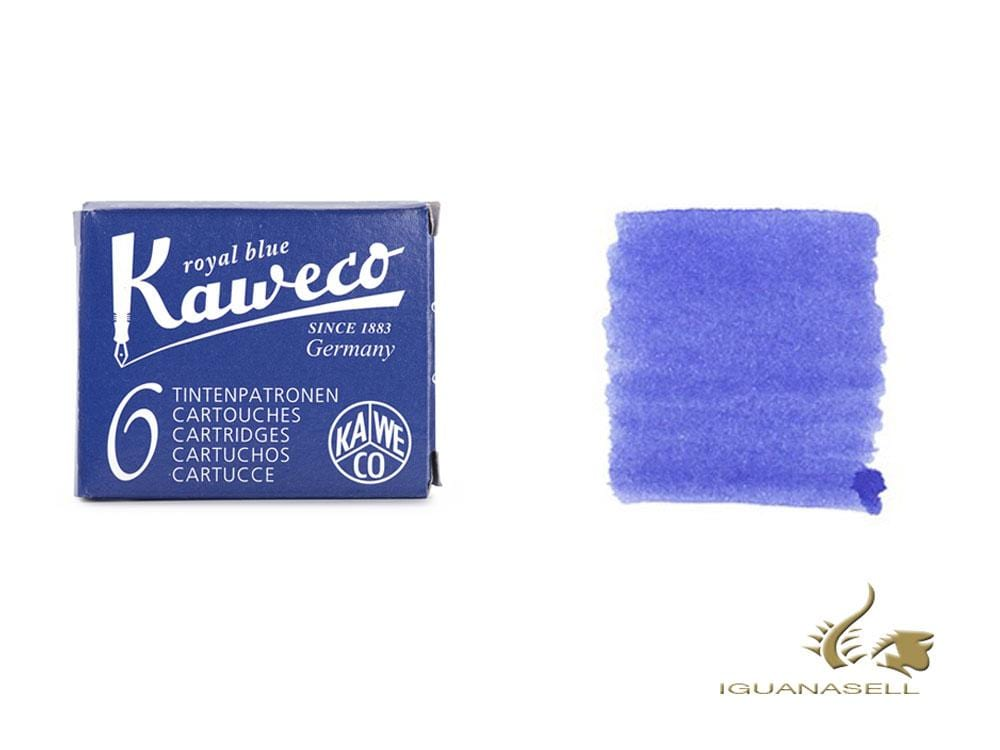 Kaweco Royal Blue Ink cartridges, Blue, 6 units, 10000256 Ink cartridges