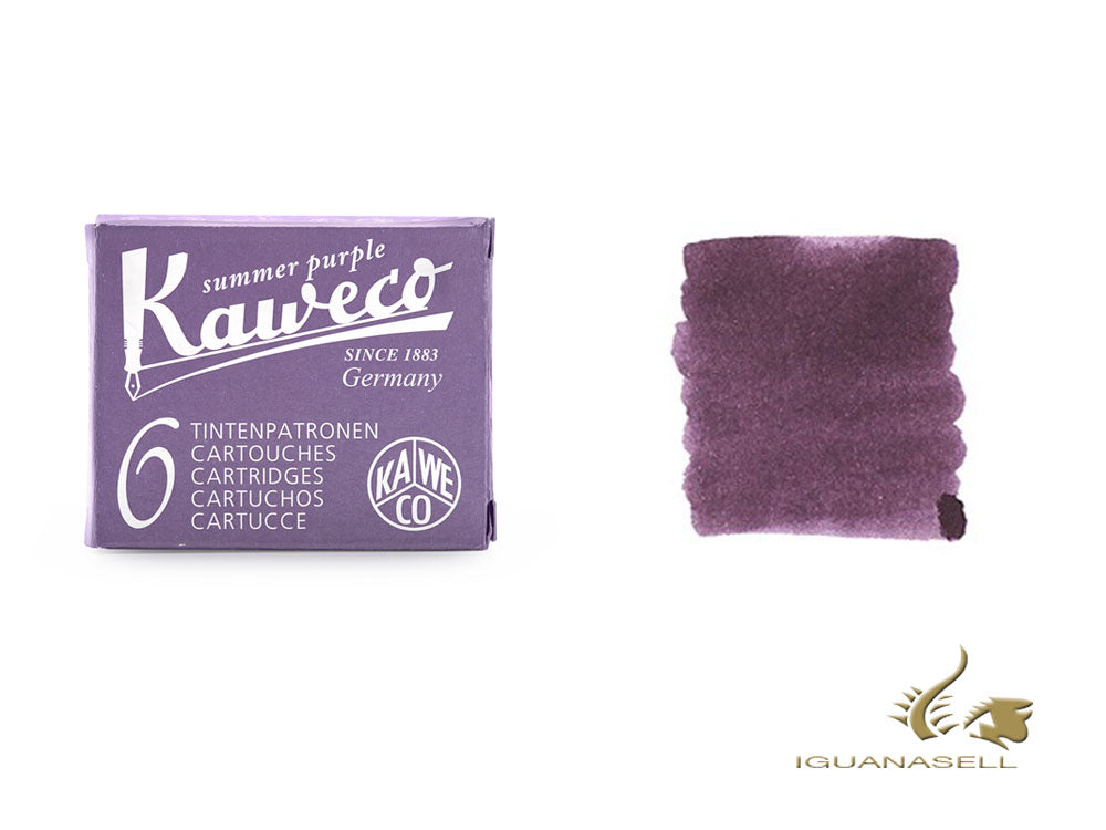 Kaweco Summer Purple Ink cartridges, Purple, 6 units, 10000010
