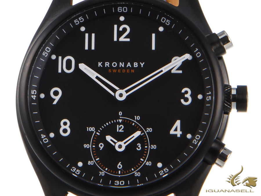 Kronaby Apex Quartz Watch, Black, 43mm, 10 atm, A1000-0730