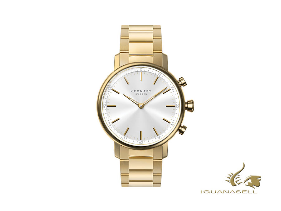 Kronaby Carat Quartz Watch, White, 38 mm, 10 atm, A1000-2447