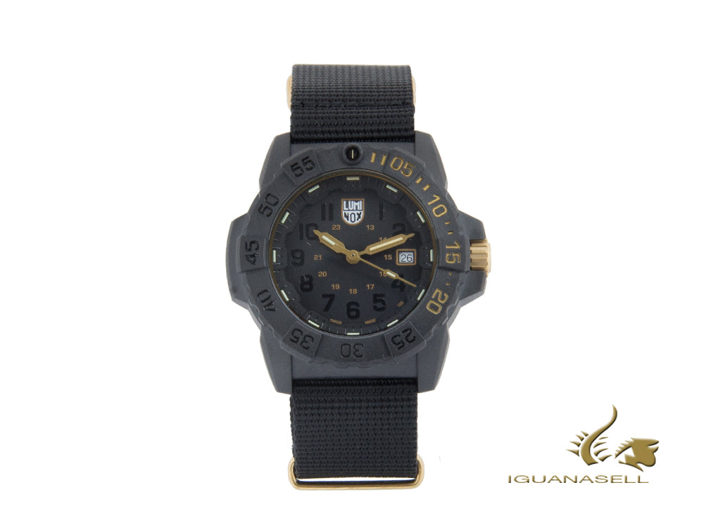 Luminox Navy Seal Limited Edition Quartz Watch, Black, 45 mm, XS.3501.GOLD.SET Quartz Watch