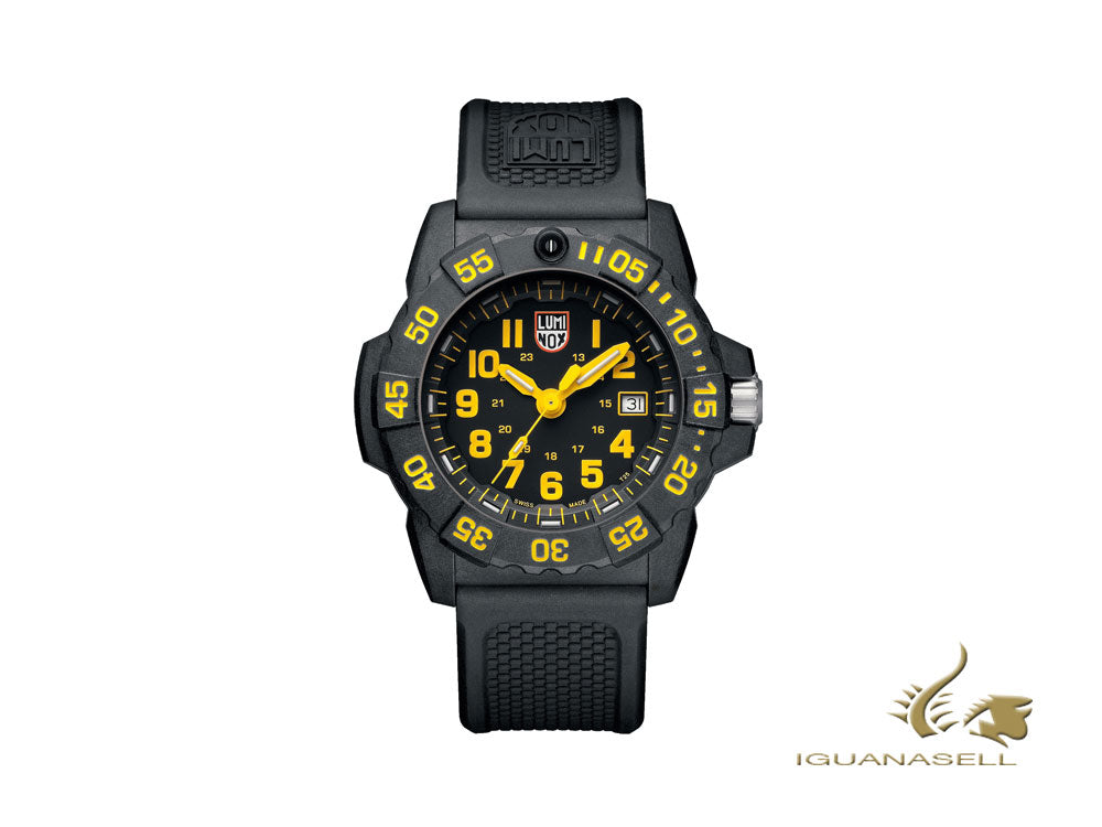 Luminox Sea Navy Seal 3505 Quartz watch, Yellow, Carbon, 45mm, 20 atm