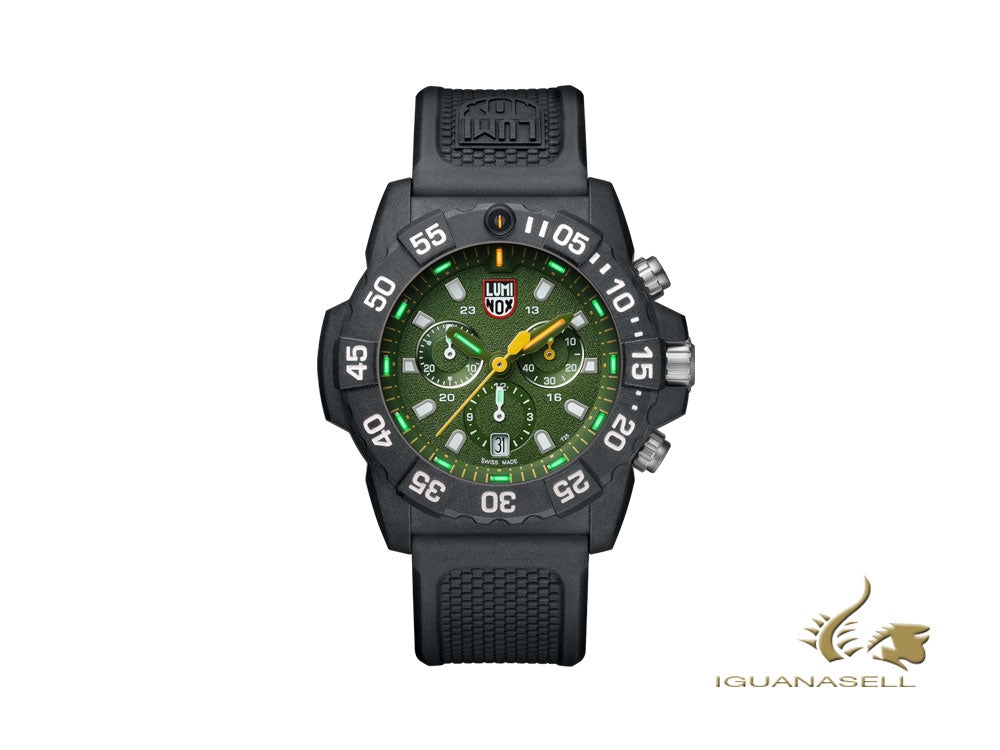 Luminox Sea Navy Seal Chronograph 3580 Series Quartz Watch, Green, XS.3597