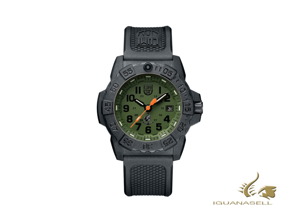 Luminox Sea Navy Seal Quartz Watch, Green, Carbon, 45 mm, 20 atm, XS.3517.NQ.SET Quartz Watch