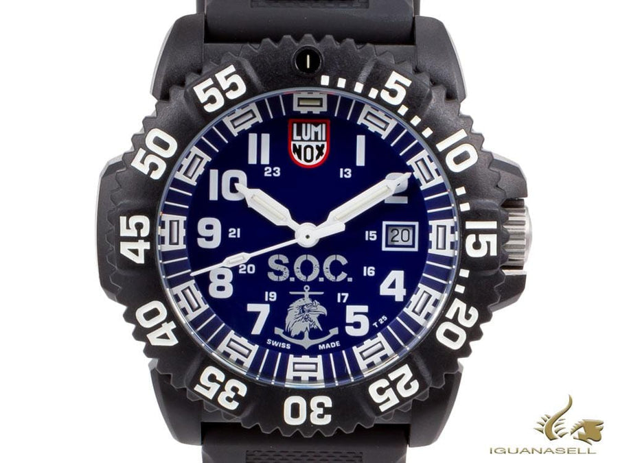 Luminox Sea Navy Seal Quartz watch, Carbon, Rubber strap, Blue, XS.3053.SOC.SET