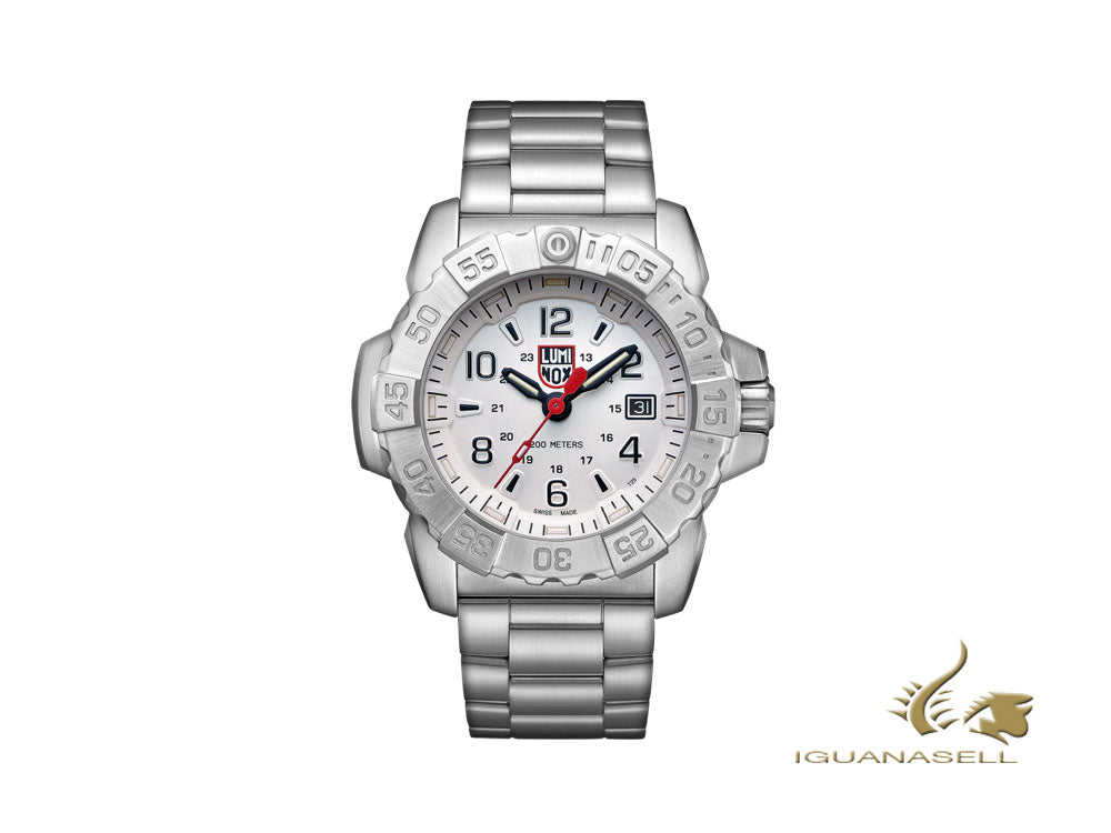 Luminox Sea Navy Seal Steel 3250 Series Quartz Watch, White, 45 mm, XS.3258 Quartz Watch