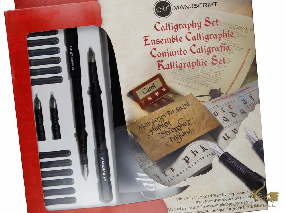 Manuscript Calligraphy Masterclass set, Black, Steel, Polished, MC146 Calligraphy set