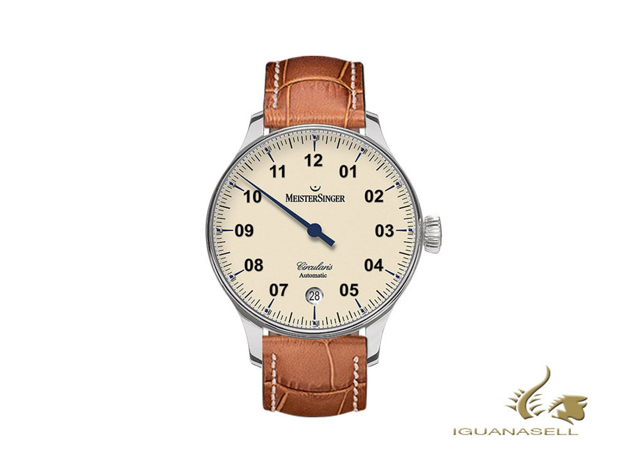 Meistersinger Circularis Automatic Automatic Watch, Automatic, Ivory, 43mm