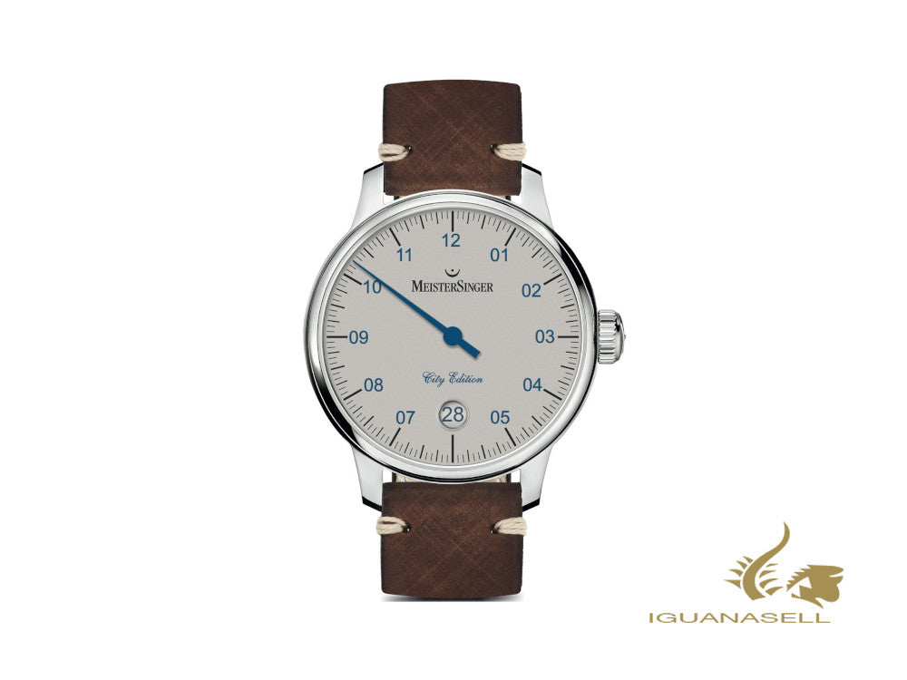 Meistersinger N3 City Edition 2018 Automatic Watch, ETA 2824-2, 43 mm, White