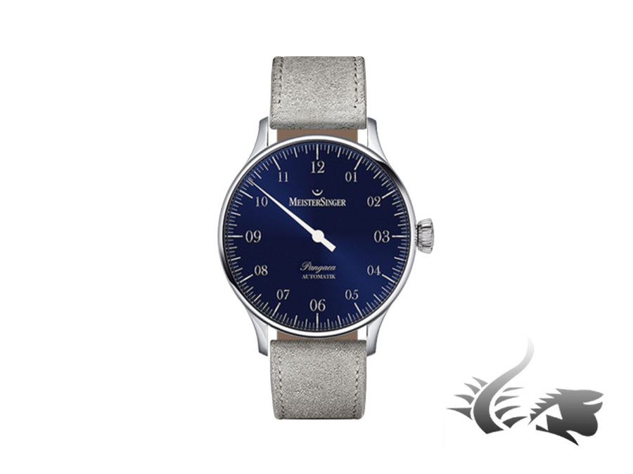 Meistersinger Pangaea Automatic Watch, ETA 2892-A2, Blue, 40mm, PM908-SV06