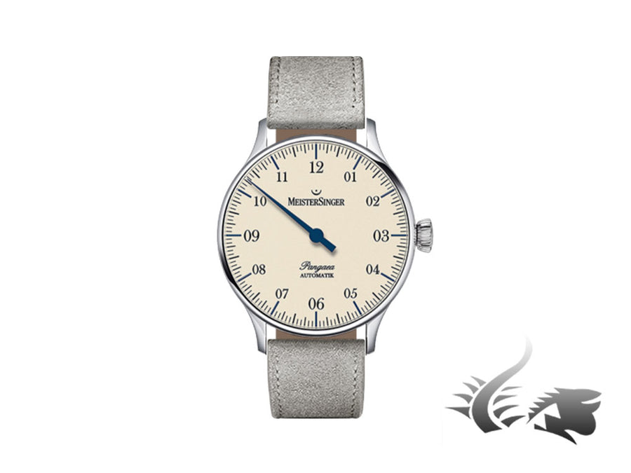 Meistersinger Pangaea Automatic Watch, ETA 2892-A2, Ivory, 40mm, PM903-SV06