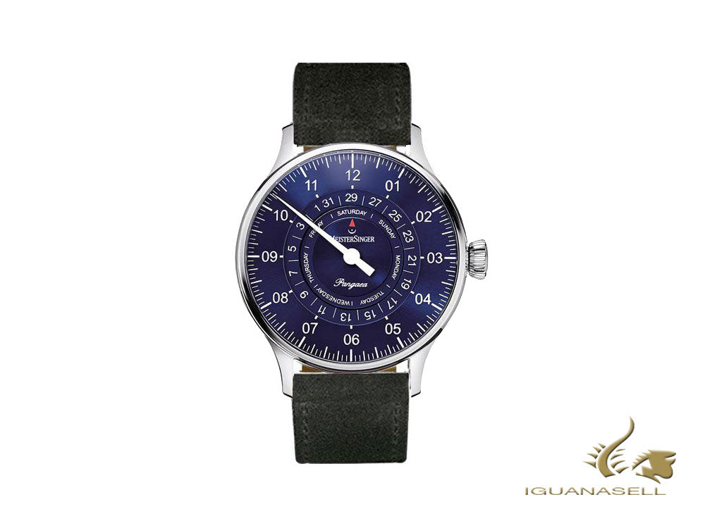 Meistersinger Pangaea Day Date Automatic Watch, ETA 2836-2, 40mm, PDD908-SV01