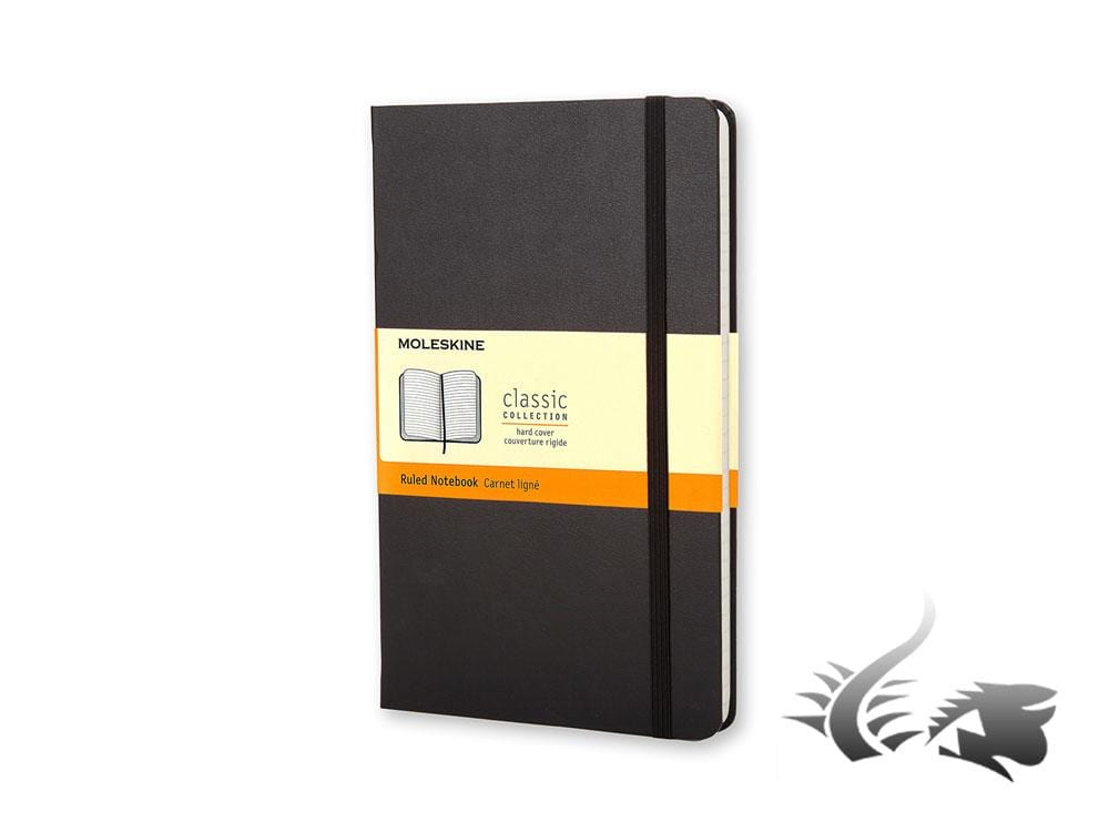 Moleskine Classic Hard cover Notebook, Large, Ruled, Black, 240 pages, QP060 Notebook