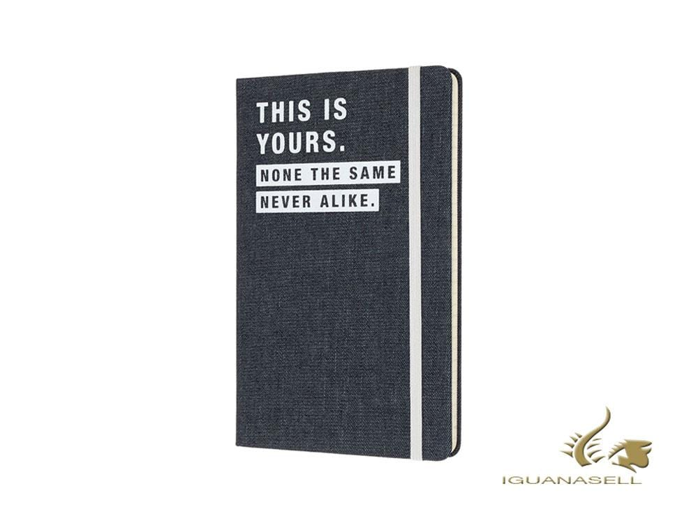 Moleskine Limited Edition Denim Notebook, Large, Ruled, Blue, LCDNQP060T Notebook