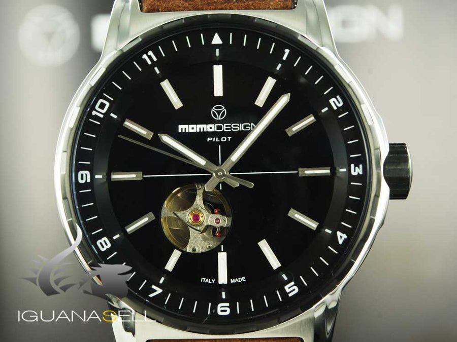 Momo Design Pilot Heritage Automatic Watch, 46mm, MD3064SB-32