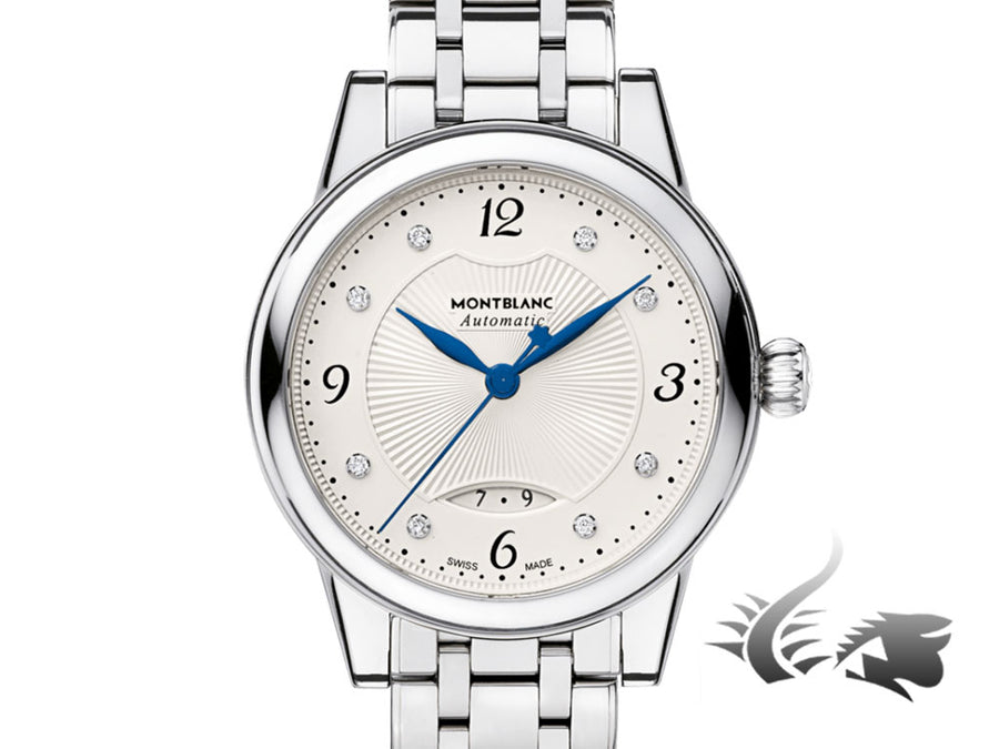 Montblanc Bohème Date Automatic Watch, MB 24.14, 30mm, Silver, 111056