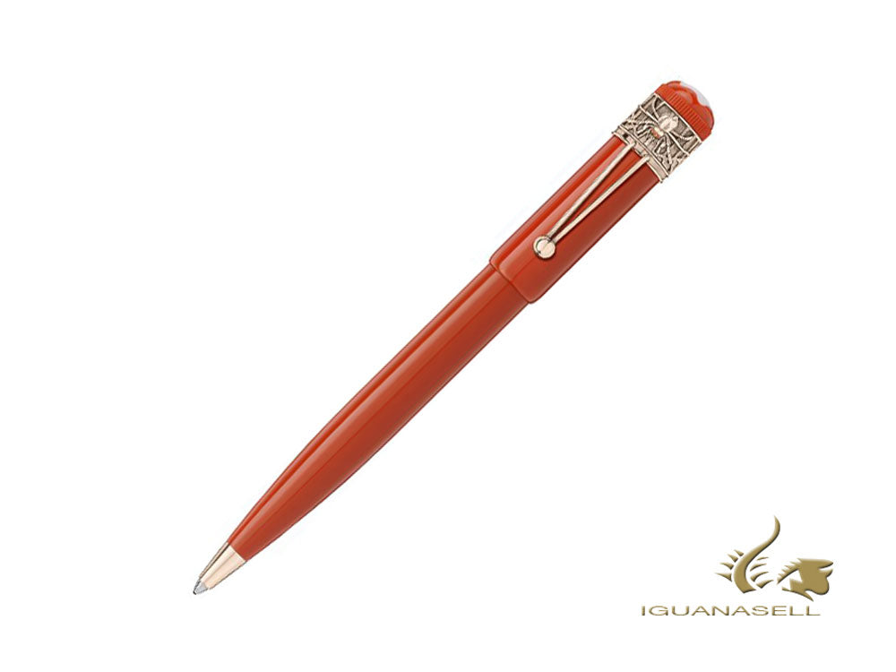 Montblanc Heritage Rouge & Noir Spider Ballpoint pen, Lacquer, Coral, 118234
