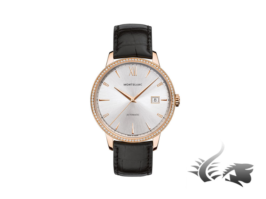 Montblanc Heritage Spirit Date Automatic Watch 18Kt Rose gold and diamonds