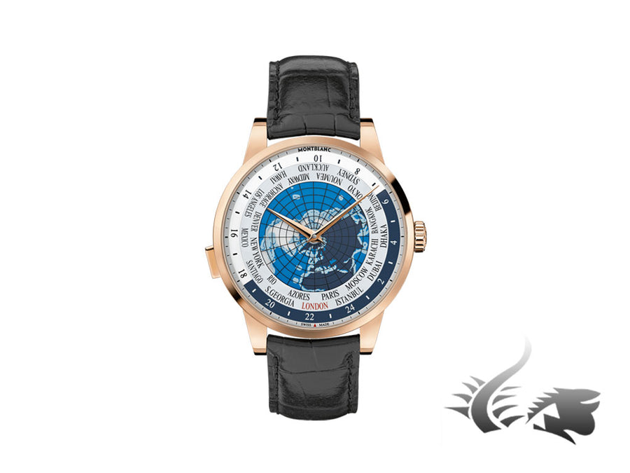Montblanc Heritage Spirit Orbis Terrarum Automatic Watch 18Kt Rose gold, Cayman