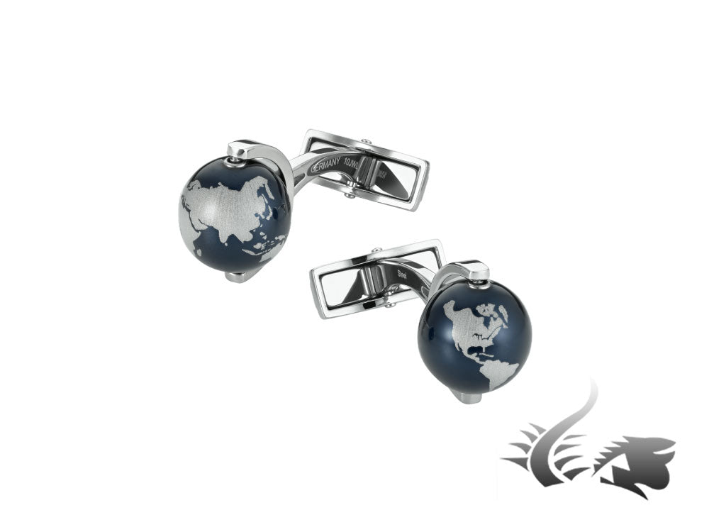Montblanc Iconic Globes Cufflinks, Stainless steel, Anodised, 112998