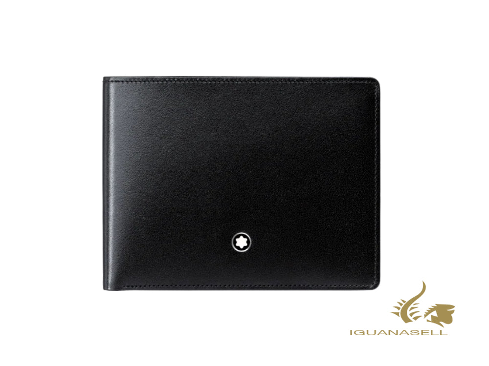 Montblanc Meisterstück Classic Animation Wallet, Black, Leather, 6 Cards, 126202