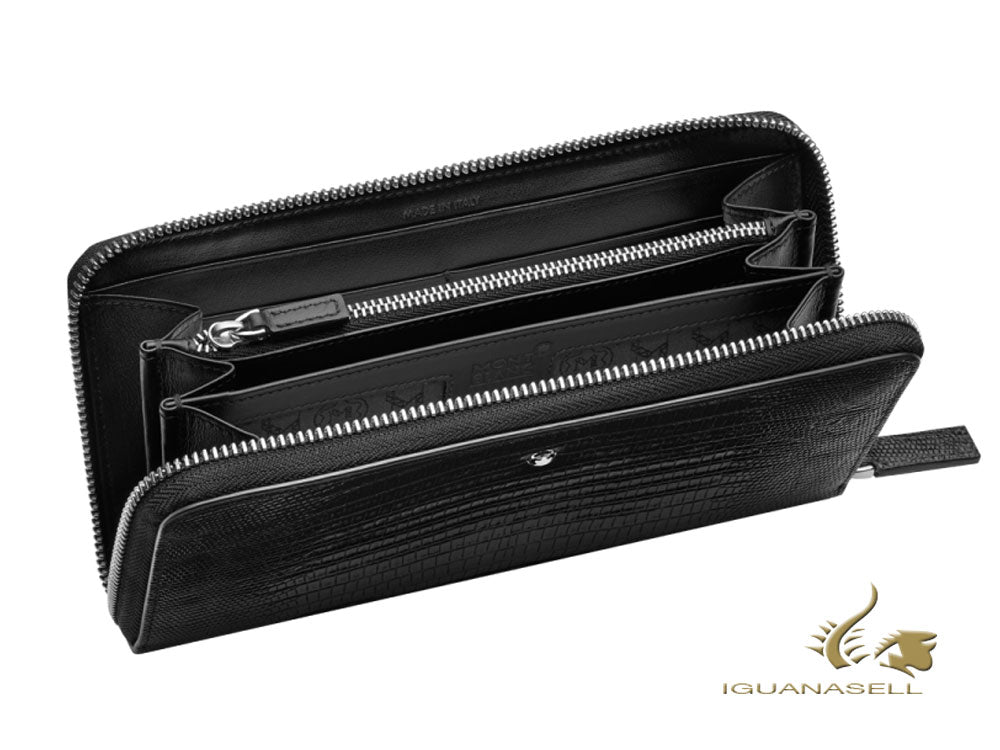 Montblanc Meisterstück Selection Wallet, Black, Leather, Jacquard, Cards, 116295