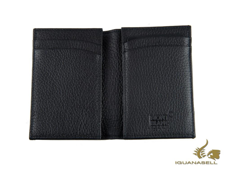 Montblanc Meisterstück Soft Grain Credit Card Holder, Black, 4 Cards, 118760