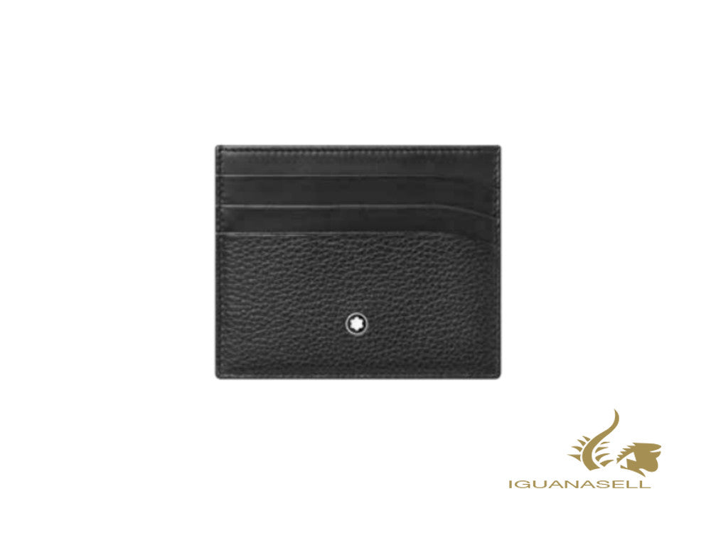 Montblanc Meisterstück Soft Grain Credit card holder, Leather, Black, 126258