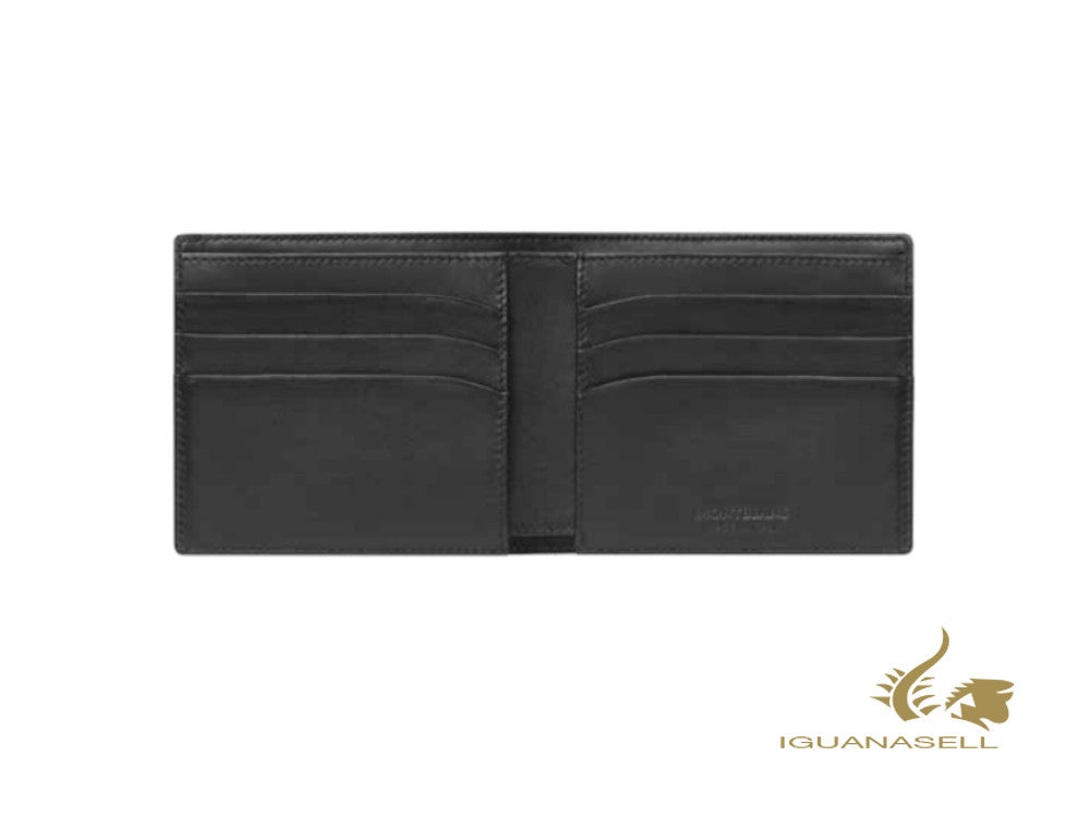 Montblanc Meisterstück Soft Grain Wallet, Black, Leather, 6 Cards, 126250