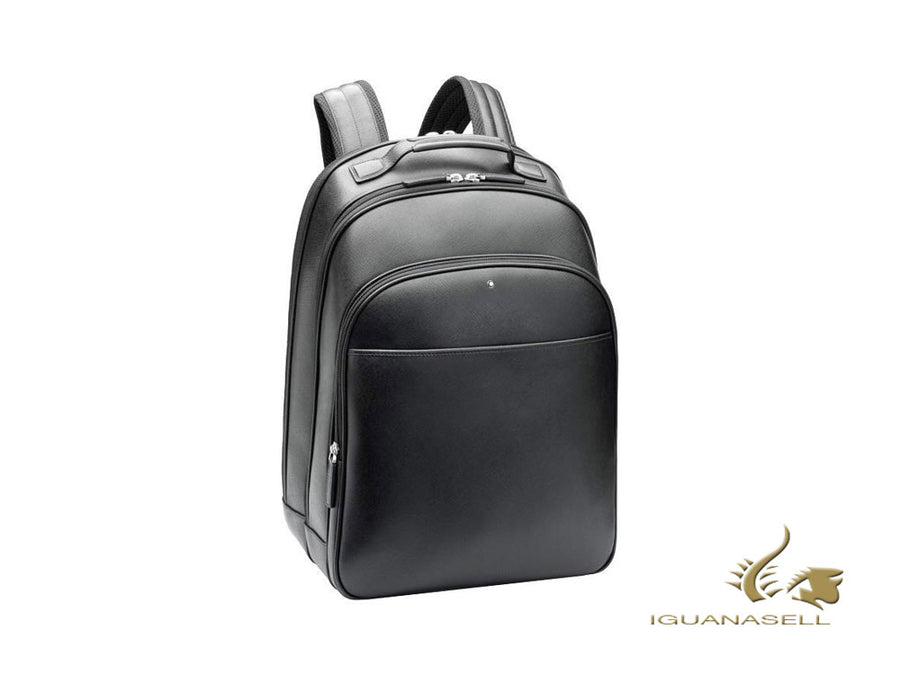 Montblanc Sartorial Backpack, Leather, Jacquard, Grey, Zip, 116323
