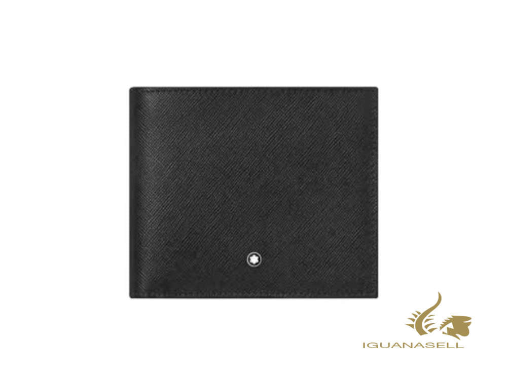 Montblanc Sartorial Wallet, Leather, Jacquard, Black, 4 Cards, 126266