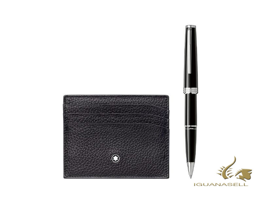 Montblanc Set Pix Rollerball pen & Meisterstück Soft Grain Credit card holder